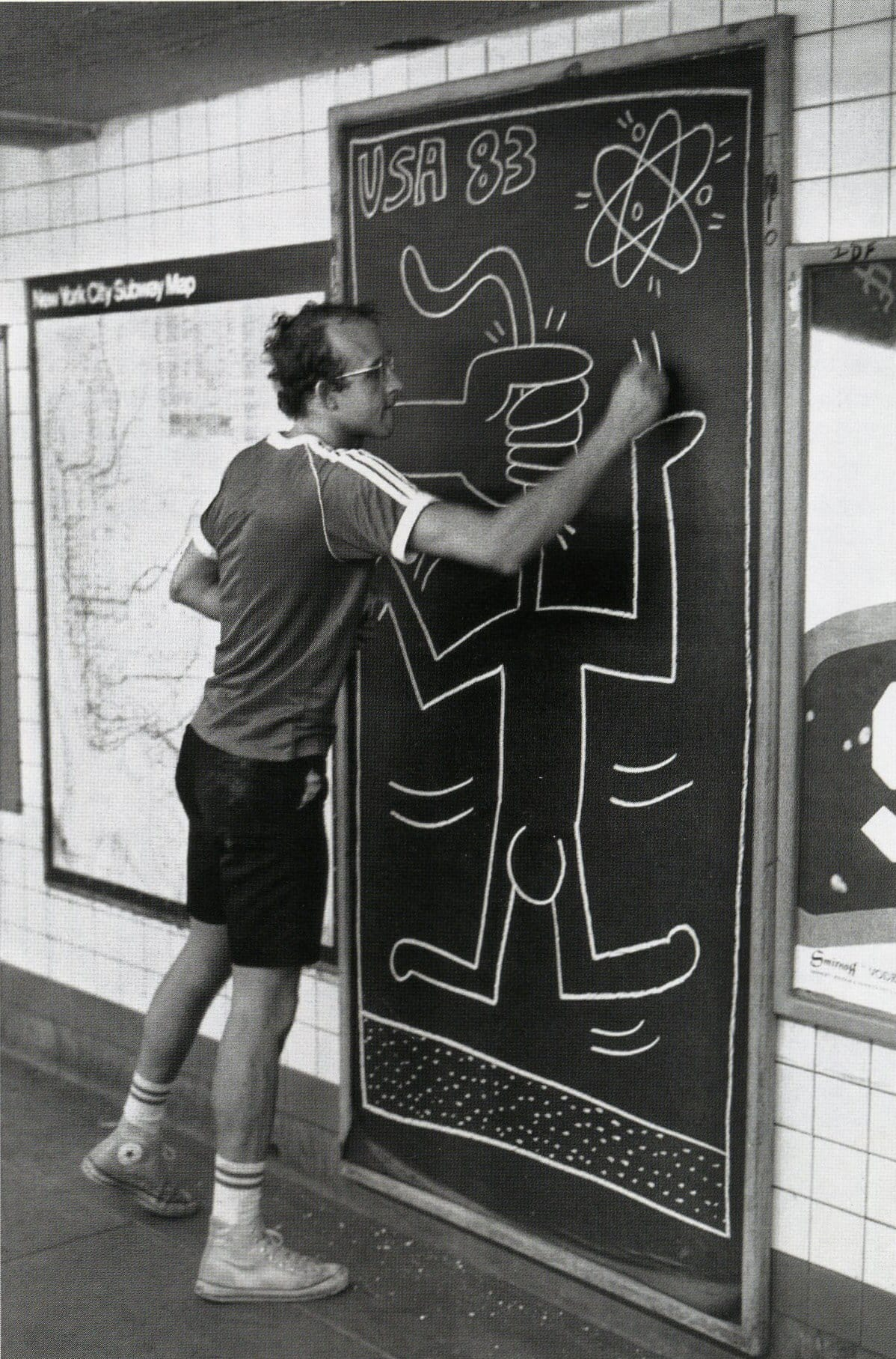 Keith Haring subway