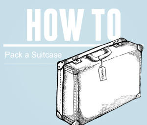 how to pack shirts in a suitcase