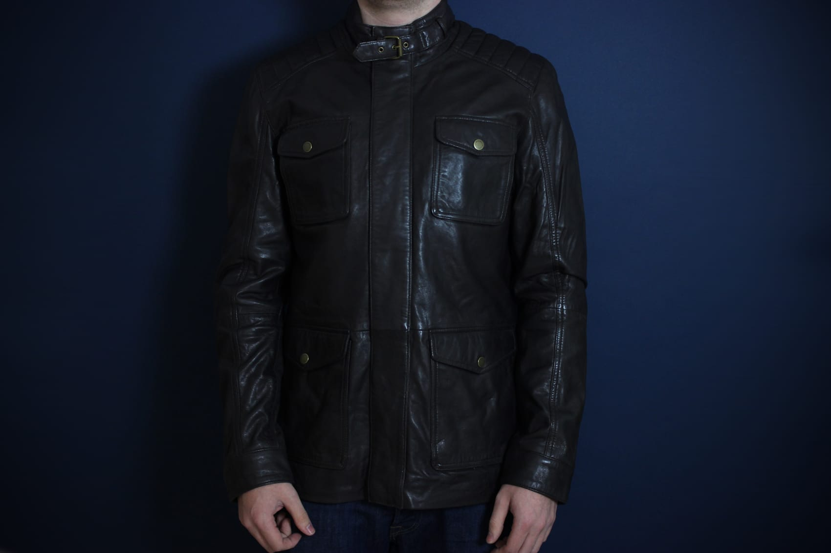 2a9cce986 Ted Baker Aerys 4 Pocket Leather Jacket – Chocolate