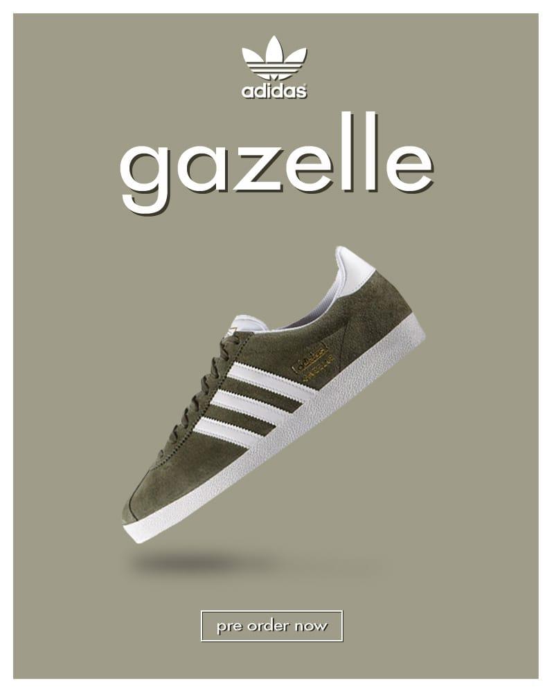 best sneakers 6f660 69ad8 adidas originals Gazelle OG – Base Green (PRE ORDER)