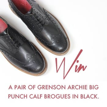 Win a Pair of Grenson Archie Big Punch Calf Brogues