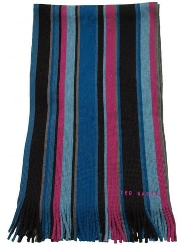 Ted Baker Coprobs Multi Stripe Scarf - Brown