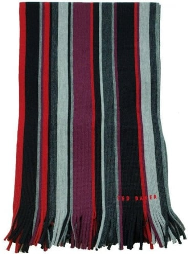 Ted Baker Coprobs Multi Stripe Scarf - Black