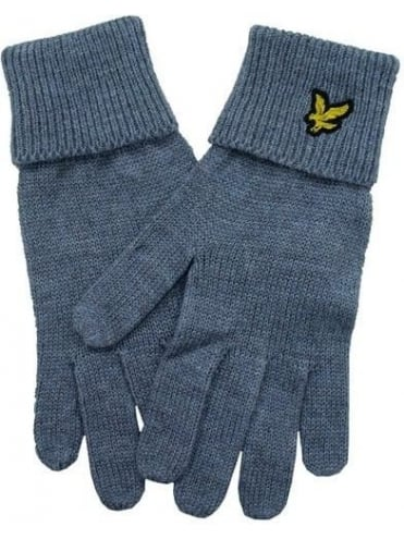 Lyle and Scott Plain Gloves - Grey Marle
