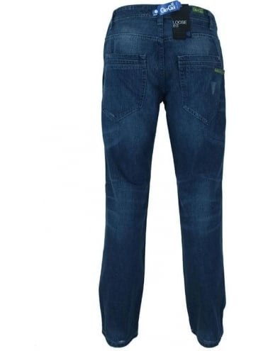 Gio Goi Digga Loose Fit Jeans - Navy