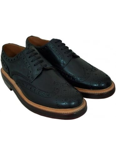 Grenson Archie Big Punch Heavy Brogue - Black