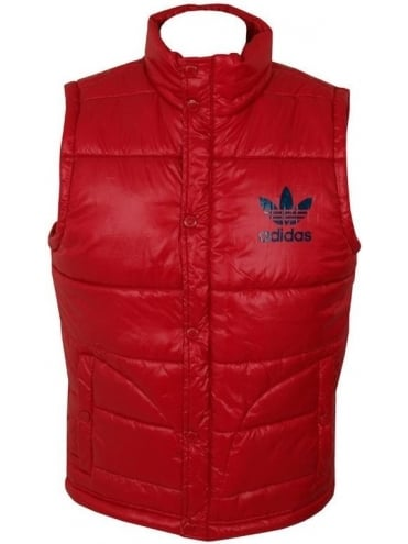 Adidas Originals AC Padded Vest - Red