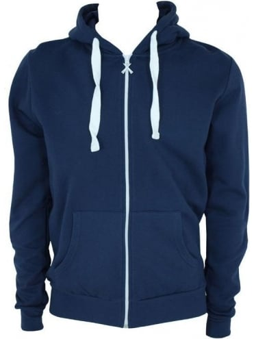 Criminal Damage Skinny Hooded Sweat - Navy