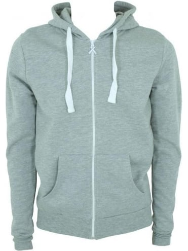 Criminal Damage Skinny Hooded Sweat - Light Grey