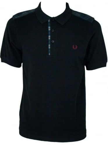 Fred Perry Needle Punch Shoulder Shirt - Black