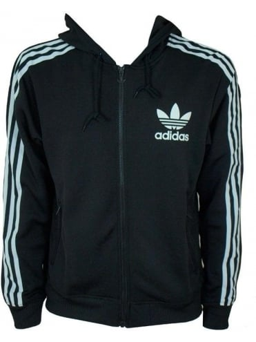 Adidas Originals Adi Hooded Flock Jacket - Black/White