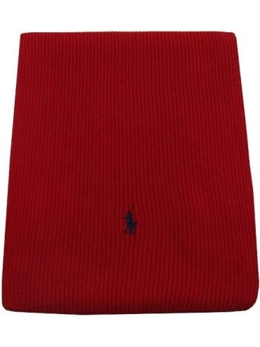 Polo Ralph Lauren Accessories Merino Wool Rib Scarf - Red