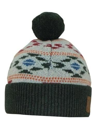 Lyle and Scott Jaquard Bobble Hat - Light Grey