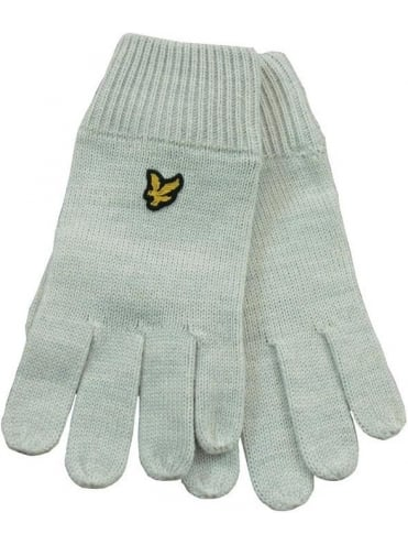 Lyle and Scott Plain Gloves - Light Grey