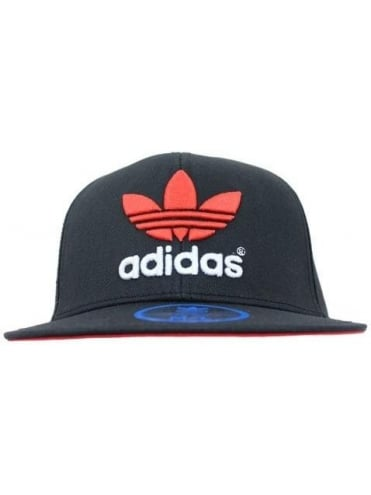 Adidas Originals AC Flat Cap Snapback - Black/Red