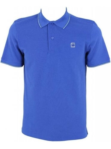 G-Star RCT Stripe Slim Polo - True Blue