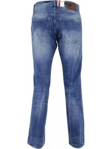 G-Star 3301 Straight Jeans - Medium Aged