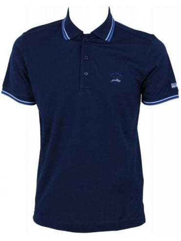 Paul and Shark Tipped Collar Polo - Navy