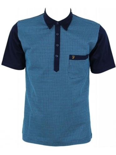 Farah Vintage The Jackman Jacquard Polo - Midnight