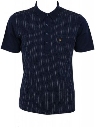 Farah Vintage The Fletcher Polo - Midnight