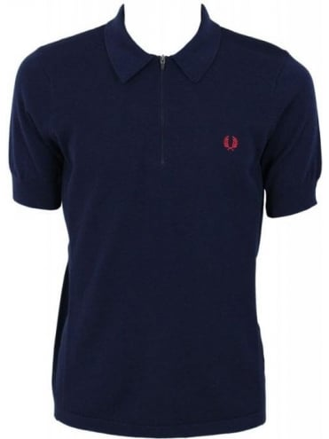 Fred Perry X Bradley Wiggins Zip CYC Polo Shirt - Dark Carbon