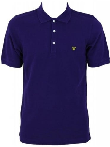 Lyle and Scott Core Pique Vintage Polo - Purple
