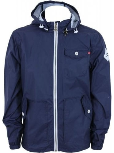 Criminal Damage Marino Hooded Jacket - Navy