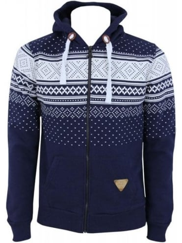 Criminal Damage Brick Hood Sweat - Navy