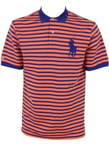 Polo Ralph Lauren Big Polo Players Stripe Polo - Orange