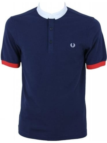 Fred Perry Block Collar Shirt - Dark Carbon