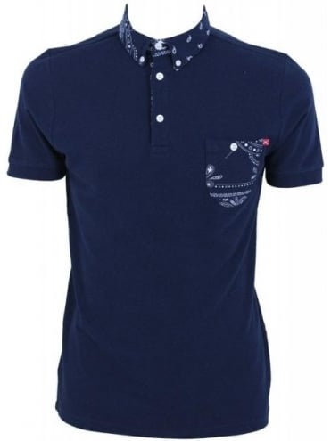 Criminal Damage Hackney Polo - Navy