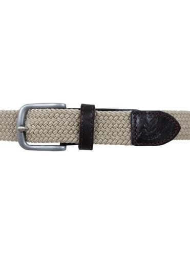 Lyle and Scott Plain Woven Belt - Dark Sand