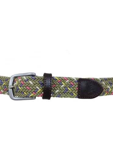 Lyle and Scott Fleck Woven Belt - Dark Sand