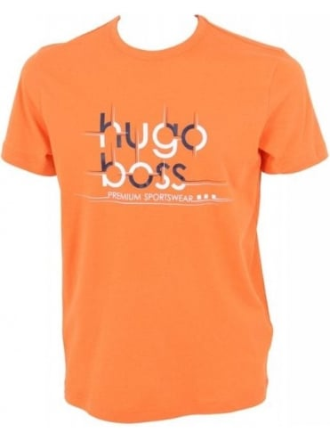 Hugo Boss Green Teeos T.Shirt - Orange