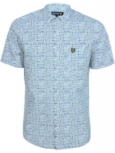 Lyle and Scott Etch Print S/S Shirt - White