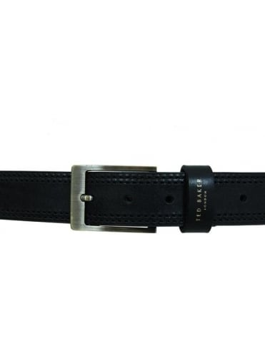 Ted Baker Crikitt Stich Leather Belt - Black