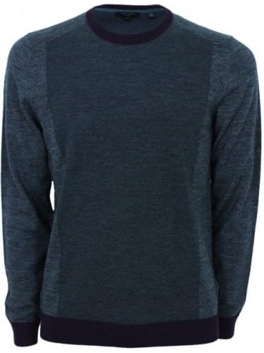 Ted Baker Lewcat Color Block Crew Knit - Grey