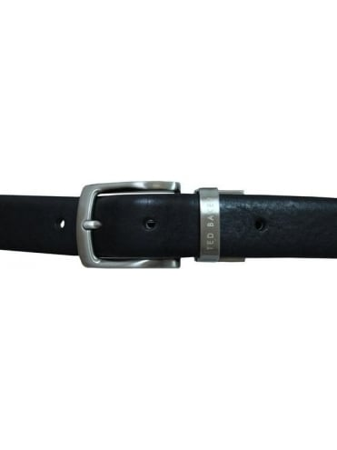 Ted Baker Revolo Reversible Croc Belt - Black