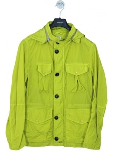 4 Pocket Nylon Goggle Jacket - Yellow