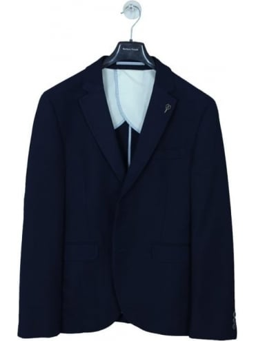 Textured S/B 2 Button Jacket - Navy
