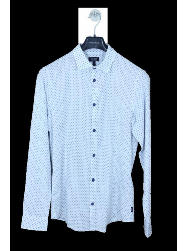 Armani Jeans Polka Dot Shirt - White/Navy