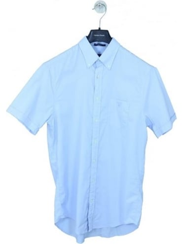 Washed Pinpoint Oxford Shirt - Ice Blue