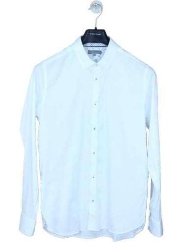 Ted Baker My Plan Satin Stretch Shirt - White