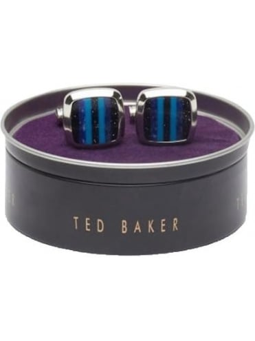 Ted Baker Bands Striped Cufflinks - Blue