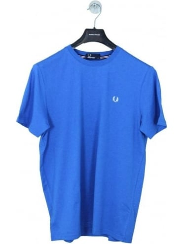 Fred Perry Crew Neck T Shirt - Princes Blue