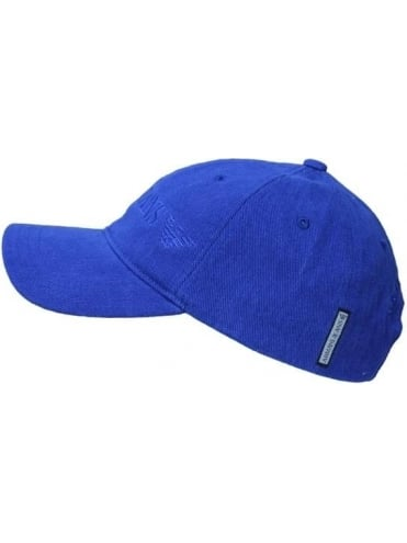 Armani Jeans Logo Baseball Cap - Royal Blue