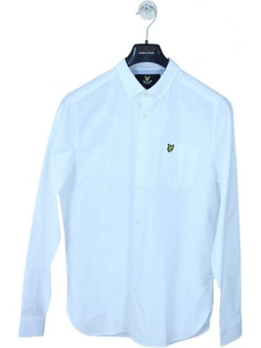 Lyle and Scott Oxford Shirt - White