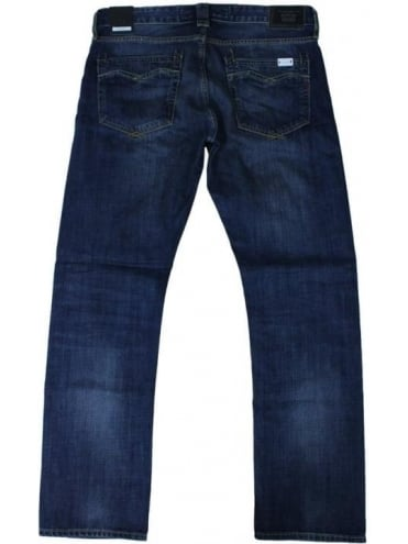 Newbill Regular Straight Jeans - Deep Blue