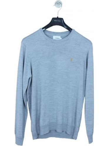 Mullen Crew Neck Knit - Rain Heather