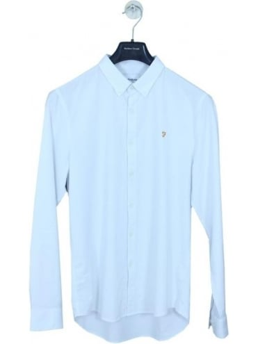 Farah Brewer Slim Long Sleeve Shirt - White